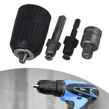 4x Chuck Conversion Keyless Hex Shank Adapter Drill Bit Quick Change Driver