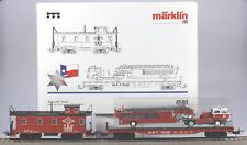 Märklin HO #4580 Texas & Pacific Caboose, Flatcar, Firetruck Set LN/BX 1995 only