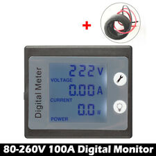 Dual Digital Voltmeter Gauge LED Amp Display Panel AC80-260V 100A  Volt Meter
