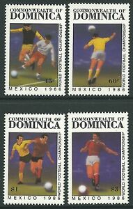 Dominica 1986 - Sports World Cup Soccer Championships Mexico 86 - Sc 935/8 MNH