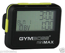 GYMBOSS miniMAX INTERVAL TIMER & STOPWATCH BLACK YELLOW SOFTCOAT SHPD FR CANADA