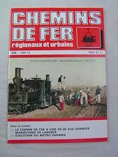 Chemins de fer régionaux et urbains 225 1991 chemin de fer à voie de 60 LANGRES