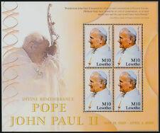 Lesotho 1371 Sheet MNH Pope John Paul II