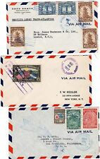 1937/48  3 x HONDURAS AIRMAIL COVERS TO USA & UK