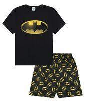 Men's Batman Character Cotton SHORT Pyjamas Sizes M to 3XL Mens Pjs