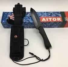 Aitor® ZERO SURVIVAL Bushcraft Fixed Knife w/ MOLLE Sheath & Firesteel NEW 16127