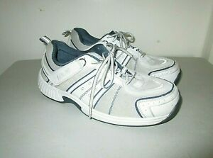 Orthofeet Mens Biofit Walking Shoes White 610 Lace Low Top Sneakers Sz.11 X Wide