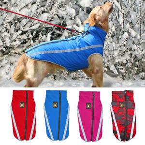 Cozy Dog Winter Coat Waterproof Windproof Dog Jacket Reflective Warm Fleece Vest