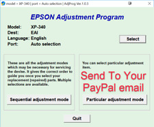 Reset Epson Epson XP340, XP440, XP446 Reset ink pads counter100%
