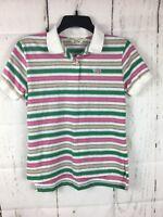 Vtg. The Fox JCPenney Polo Shirt 80's Bright Stripes Jr. M