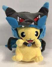 Pokemon Center Japan Mega Charizard Costume Poncho Pikachu 2015 Stuffed Doll Toy