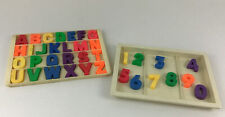 Vintage Fisher Price Schoolhouse Little People #923 Replacement Letters Numbers