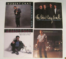 LOT of 4 ROBERT CRAY 45 rpm Picture Sleeves (Only - NO 45s)