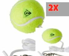 2x DUNLOP TOTEM TENNIS BALL REPLACEMENT BACKYARD TRAINER SPARE BALL HOOK STRING