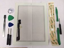 Front Panel Touch Screen Glass Digitizer Home Button Assembly for iPad 3 White