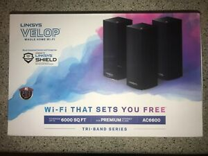 Linksys Velop Whole Home WiFi 3 Node Ac6600 Black WHW0303B