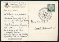 Germany, 1938, 100th Anniversary of birth of Zeppelin w/special cancel on card,