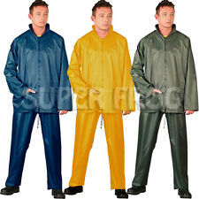 Waterproof Windproof Rain Nylon Jacket and Trousers Set Rainsuit Suit Workwear