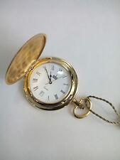 Orologio da tasca laminato oro,calendario, movimento FE quarzo Vintage Watch