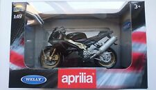 WELLY APRILIA RSV 1000 R FACTORY 1:18 DIE CAST NEW IN BOX LICENSED MOTORCYCLE