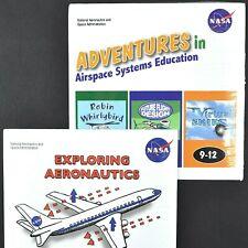 Nasa Space K-12 Educational 2 Cd Rom Lot Mac/Pc Quicktime Pdf Aeronautics New