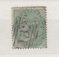 GB QV 1856 1/- Green SG72 VFU J9209