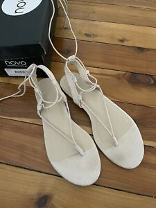 Novo Shoes Nude Strappy Sandals Size 7
