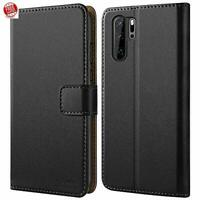 Case For Huawei P30 Pro Premium Leather Flip Wallet Magnetic Stand Cover Black