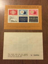 Finland National Stamp Exhibition March 17-25 1961 Souvenir Sheet Europa MNH