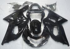 Glossy Black ABS Injection Fairing Kit For Suzuki GSXR600/750 2001 2002 2003 K1