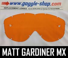 Goggle-shop Lente De Repuesto Para Spy Alloy Targa 2 Motocross Gafas Naranja Tint