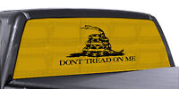 Truck Rear Window Dont Tread On Me Gadsden Flag Perforated Vinyl Decal