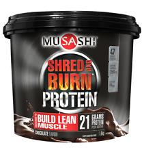 MUSASHI SHRED AND BURN CHOCOLATE,FAT BURNING PROTEIN POWDER 1.6KG