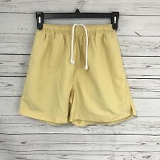 Tommy Bahama Men's Swim Trunks Yellow Shorts Mesh Lined Pockets Size Small