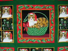 CHRISTMAS CATS Fabric by Fabric Traditions Cotton by the yard