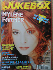 revue JUKEBOX MAGAZINE n°170 MYLENE FARMER CREAM BLACK CROWES MAGMA HALLYDAY