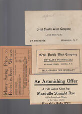 Great Pacific Wine Company Hornell NY 1916 Mailer & Price List Pre-Prohibition