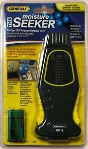 General Tools Pin-type LED  Moister Meter MM1E UPC 10188