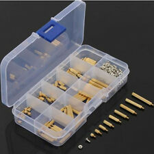 270Pcs M2mm Male to Female Brass PCB Standoff Screw Nut Assortment Kit DIY