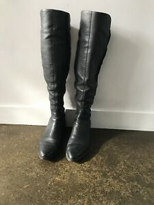 Knee High zara Leather Boots