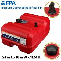 Marine Boat Fuel Gas Tank Portable 12 Gallon Low Profile TriToon Pressure Relief
