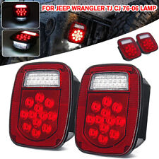 Upgrade LED Tail Light Brake Reverse Turn Signal For Jeep Wrangler TJ CJ 76-06