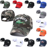 Men's Cotton Embroidered Croc Logo Baseball Cap Classic Adjustable Golf Laco Hat