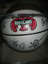 Maine Red Claws Multiple Signed Spalding Basketball 2010-2011 w/ Display Case