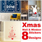Xmas Merry Christmas Removable Wall Sticker Window Tree Sock Art Vinyl Decor New