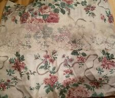 Huge 4pc Set CROSCILL Elizabeth Gray  VICTORIA Roses BLOUSON VALANCES 88x17 Each