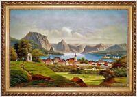 Ölbild Gmunden Schloss Orth Wilhelm Jankowsky ÖLGEMÄLDE HANDGEMALT F:60x90cm