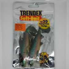 Behr Trendex Soft Lures Pike Perch Trout Pack Of 2 Rainbow Trout Lures 12cm 36g