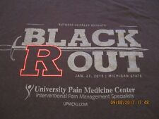 Rutgers Scarlet Knights Basketball Black Out 1/27/15 Michigan State T shirt XL