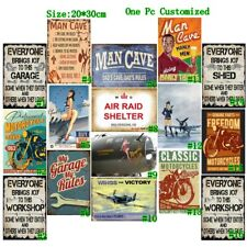Man Cave Vintage Metal Tin Signs Retro Garage Plate Art Wall Decor Poster